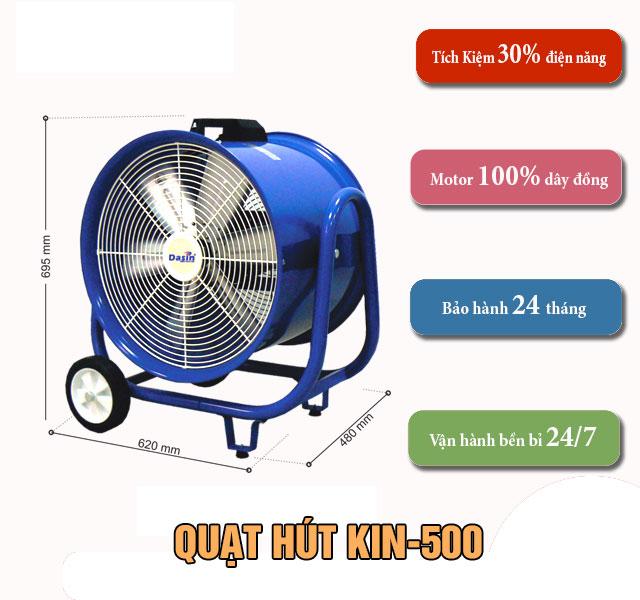 Ưu điểm quạt hút KIN- 500