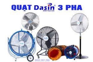 Bảng báo giá quạt Dasin 3 pha- cập nhật mới nhất