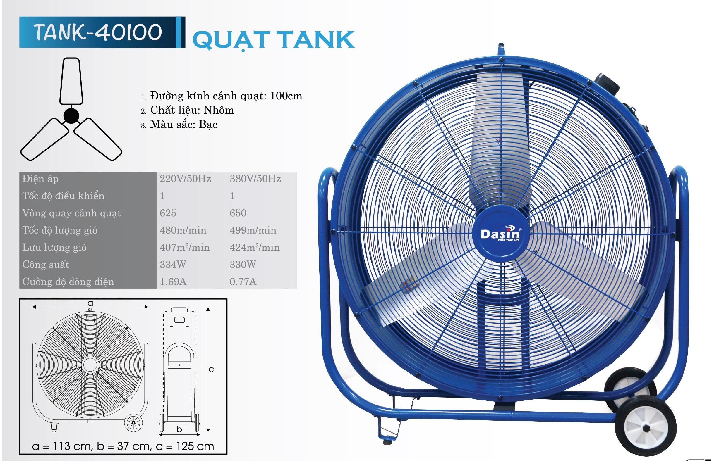 Thông số kĩ thuật Tank-40100
